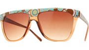 Top Circles Sunglasses - Brown/Brown
