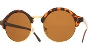 Round Cool Sunglasses - Tortoise/Brown