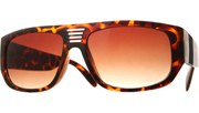 Vented Squared Aviators - Tortoise/Brown