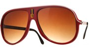 Vintage Lined Aviators - Red/Brown