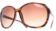Silver Striped Sunglasses - Tortoise/Brown