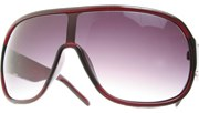 Extra Large Aviators - Red/Smoke