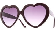 Oversized Heart Sunglasses - Purple/Smoke