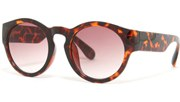 Oversized Thick Round Sunglasses - Tortoise/Smoke