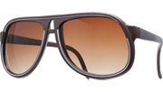 Fully Lined Aviators - Brown/Brown