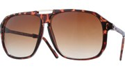 Gold Bridge Aviators - Tortoise/Brown