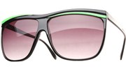 Neon Oversized Sunglasses - Green/Smoke
