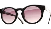 Round Key Hole Sunglasses - Black/Black