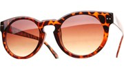 Round Key Hole Sunglasses - Tortoise/Brown