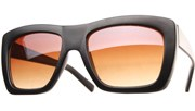 Color Block Sunglasses - Black/Brown