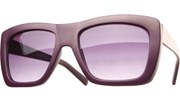 Color Block Sunglasses - Purple/Black