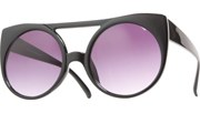 Gogo Kitty Round Sunglasses - Black/Black