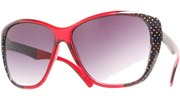 Side Polka Dot Sunglasses - Red/Black
