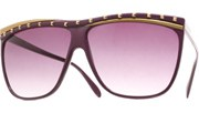 Juno Studded Sunglasses - Purple/Smoke
