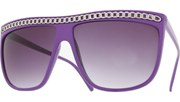 Top Chain Sunglasses - Purple/Smoke