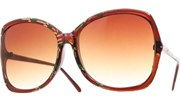 Hand Painted Sunglasses - Brown/Brown