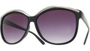 Metal High Brow Sunglasses - Black/Smoke
