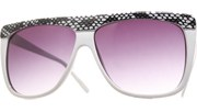 MIA Snake Sunglasses - White/Smoke