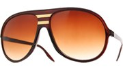 Gold West Aviator Sunglasses - Brown/Brown