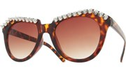 Top Spiked Sunglasses - Tortoise/Brown