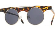 Wide Frame Round Sunglasses - Tortoise/Black