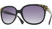 Gold Dots Sunglasses - Black/Smoke