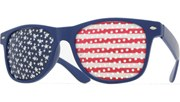USA Pin Hole Glasses - Blue/Flag
