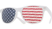 USA Pin Hole Glasses - White/Flag