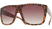 Side Metal Bar Sunglasses - Tortoise/Brown