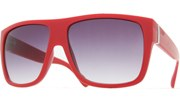 Side Metal Bar Sunglasses - Red/Smoke