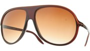 Lined Plastic Aviators - Brown/Brown