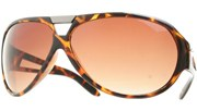 Thick Plastic Aviators with Metal Bridge - Tortoise/Brown