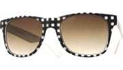 Mono Plaid Cool Sunglasses - WhtBlk/Smoke