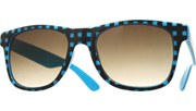Mono Plaid Cool Sunglasses - BluBlk/Smoke