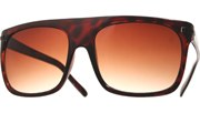 Oversized Aviator Temple Sunglasses - BrnBlk/Brown