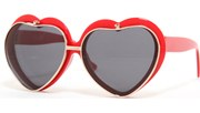Flip Up Heart Sunglasses - Red/Black