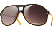 Mirrored Two Tone Aviators - YlwBlk/Mirror