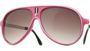 Outlined Vintage Aviators - Pink/Smoke