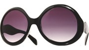 Rounded Wave Arm Sunglasses