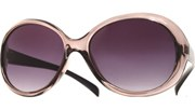 Rounded Brow Sunglasses - ClrSmo/Smoke