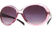 Rounded Brow Sunglasses - Purple/Smoke