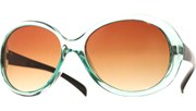 Rounded Brow Sunglasses - Blue/Brown