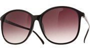 80s School Teacher Sunglasses - Black/Smoke