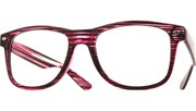 Striped Reading Glasses - Purple/Clear