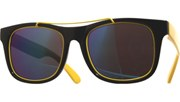 Metal Rimmed Cool Sunglasses - BlkYlw/Revo