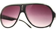 Plastic Aviator Sunglasses - BlkClrGrn/Smo