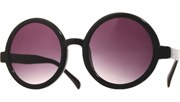 Circle Sunglasses - Black/Smoke