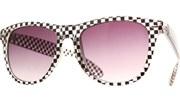 Geo Check Print Sunglasses - Blk/Clr