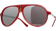 Vintage Mirrored Lined Sunglasses - Red/Mirror