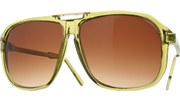 Gold Bridge Aviators - Green/Brown